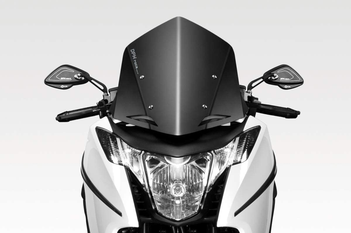 Integra NC700 2012/13 - Kit Windscreen 'Warrior' SS (R-0716B) - Aluminum Windshield Fairing - Hardware Fasteners Included - De Pretto Moto Accessories (DPM Race) - 100% Made in Italy