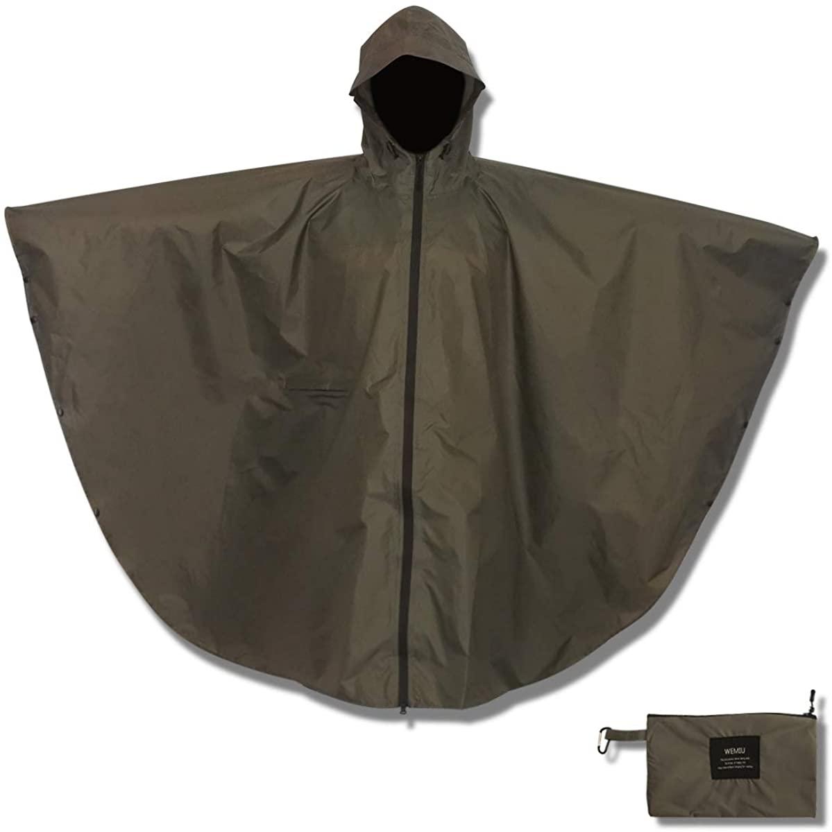 RainRider Rain Poncho for Adults Waterproof Lightweight Rain Gear Travel Camping Emergency Military Rain Coat Jacket