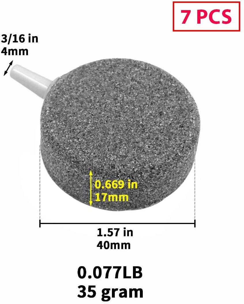 HiSin 7 PCS 1.6 X 0.6 Inch Disk Air Stone for Aquarium & Hydroponics