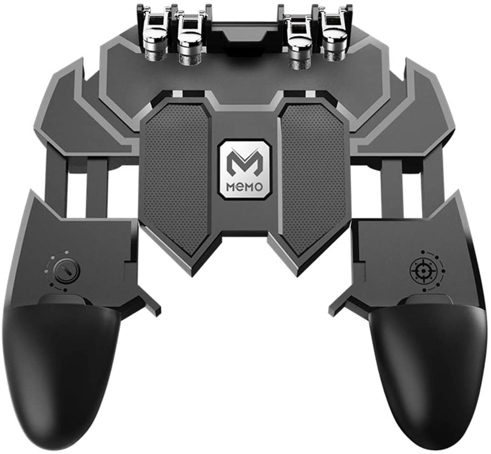 LOKIH Mobile Game Controller PUBG Mobile Controller 6 Fingers Operation for 4.7-6.5