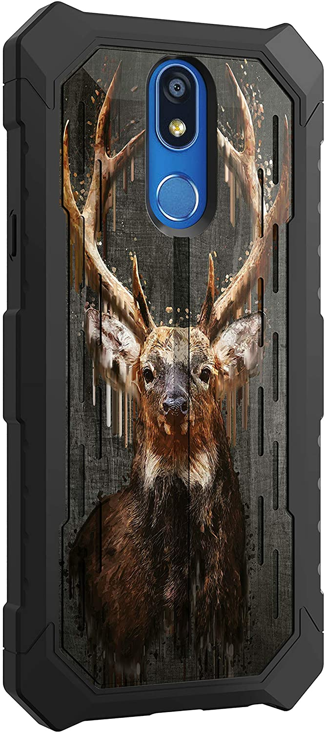 TurtleArmor   Compatible with LG K40 Case   LG K12 Plus Case   LG X4 Case (2019)   Fitted Shell Shockproof TPU Bumper Rugged Case Animal Design - Painted Elk