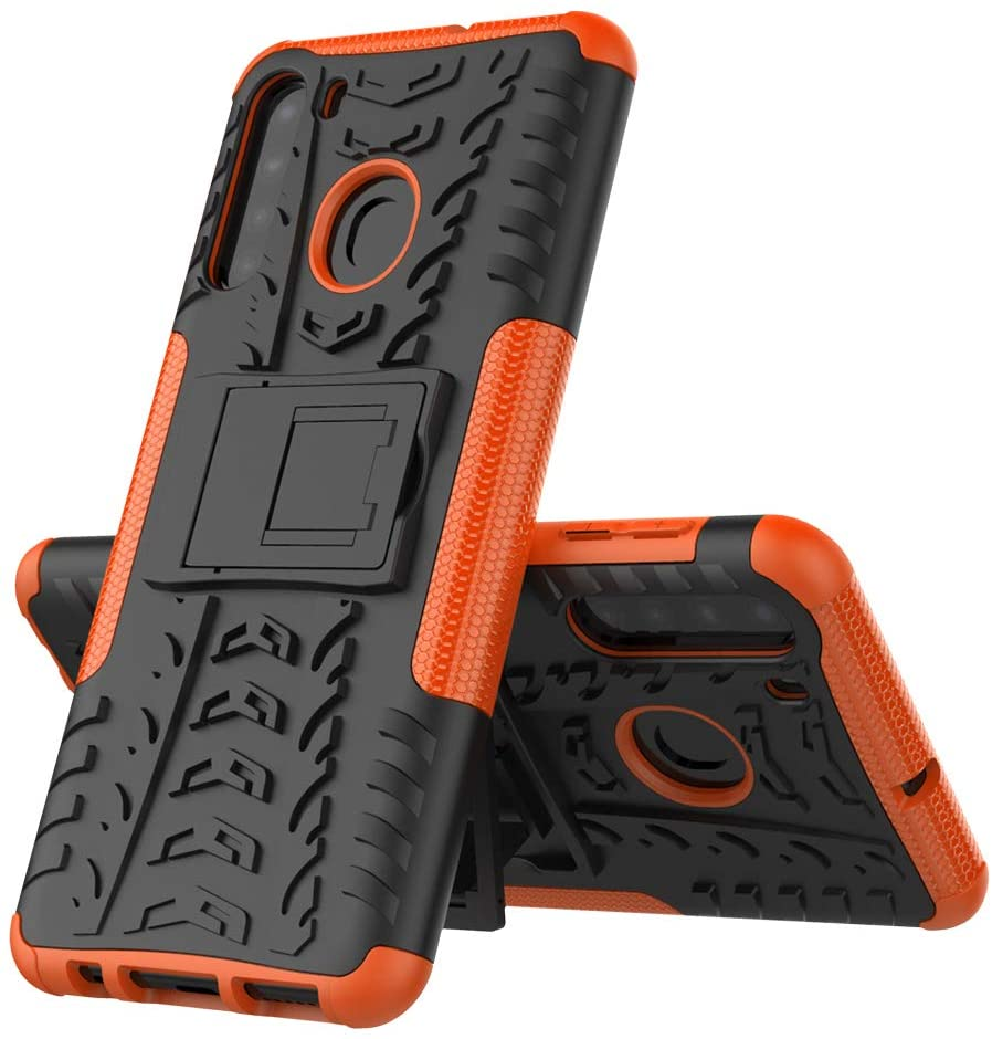ISADENSER Case for Samsung Galaxy A11 ,Samsung Galaxy A11 Cover Galaxy A11 Case Heavy Duty with Kickstand Dual Layer Drop Protection Shockproof Hard Phone Case for Samsung Galaxy A11. Hyun Orange