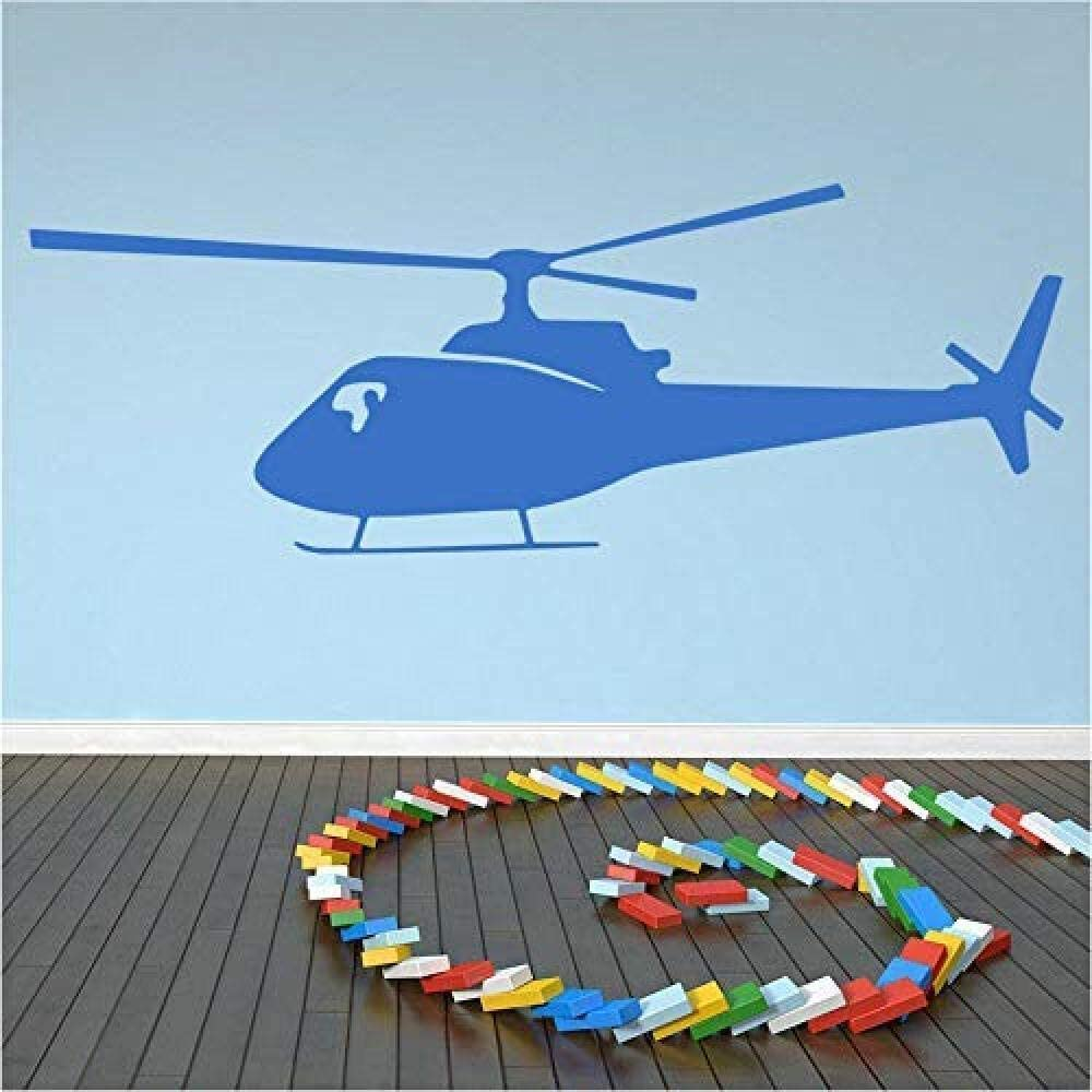 oppsq Helicopter Wall Sticker for Baby Boy Room Aircraft Wall Decalliving Room Classroom Decoration Art Room Decor 20X57Cm