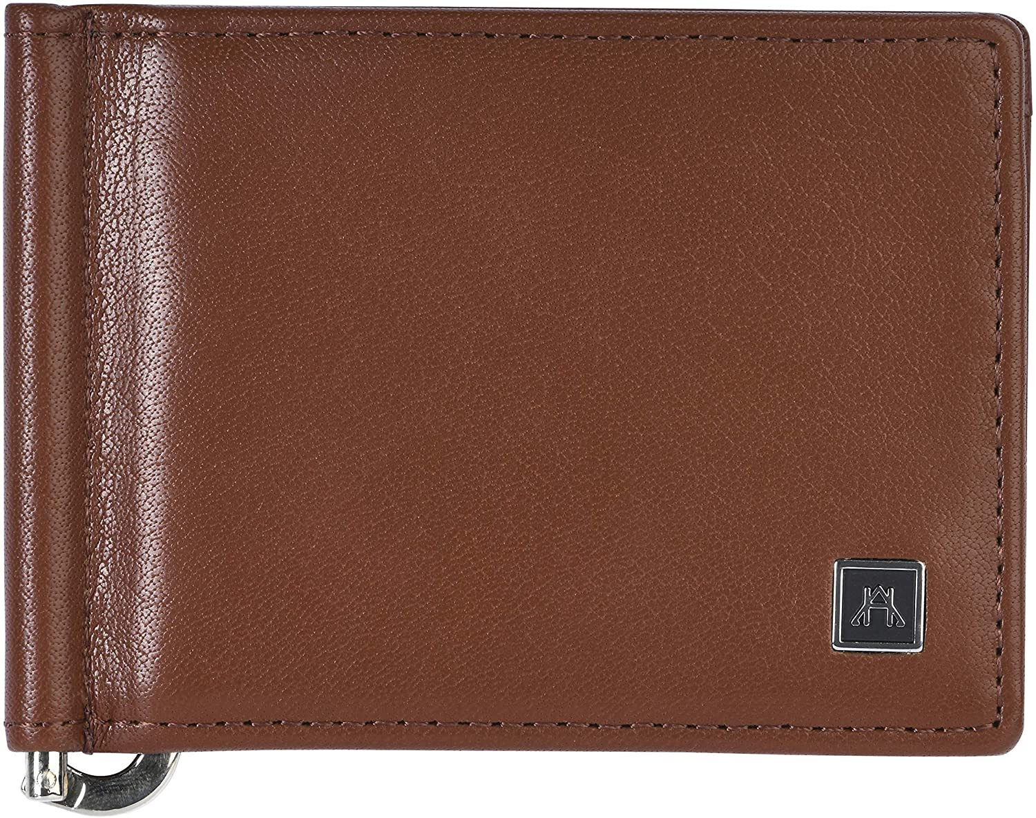 A&H Leather Goods RFID Men's Slim Money Clip Wallet Full Grain Leather