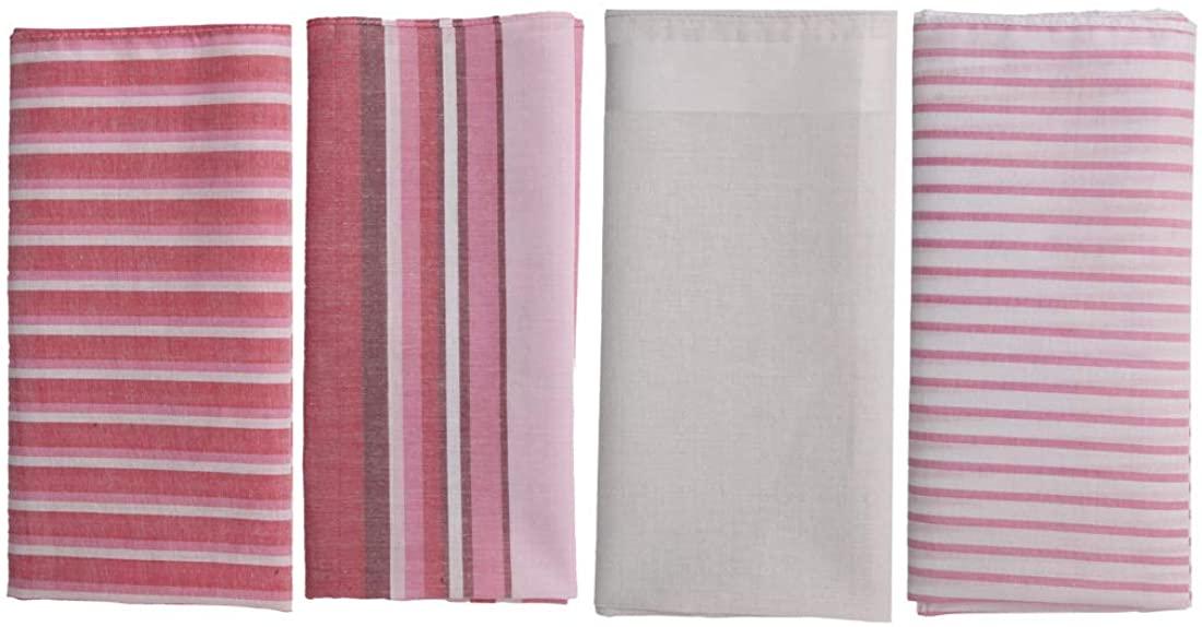 Y&G Mens Fashion Classic Gentlemen 4 Cotton Handkerchiefs Set Wedding Gift Ideas
