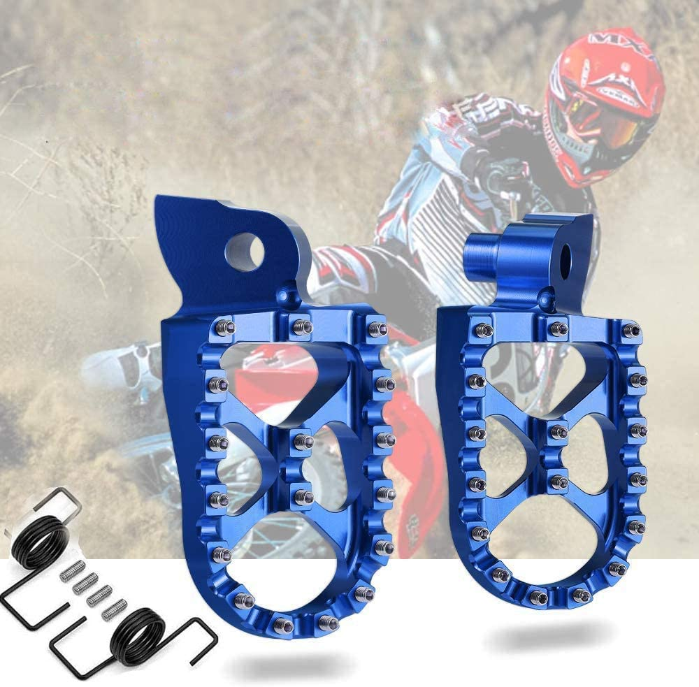 Foot Pegs Rest Pedal Compatible with Yamaha YZ125 1997-2017/ YZ250 1998-2020/ YZ85 2002-2019/ YZ250F 2001-2019/ YZ450F Foot Rest