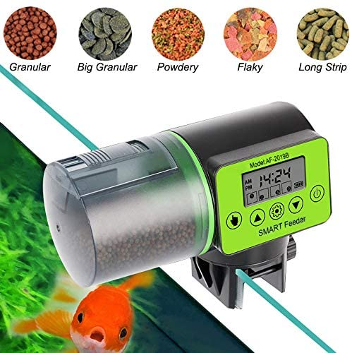 Natbabe Automatic Fish Feeder,Electric Auto Feeder Vacation Timer Feeder Fish Food Dispenser for Aquarium Tank,Digital Automatic 200Ml Capacity for Vacation & Weekend,Daily,Business Trip,Weekend