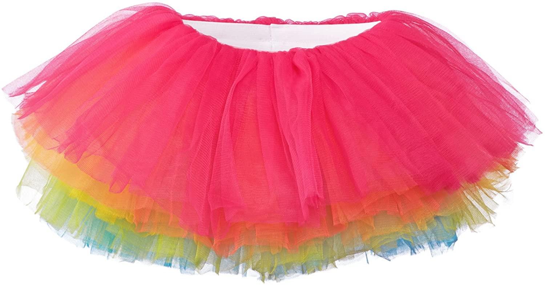 My Lello Big Girls 10-Layer Short Ballet Tulle Tutu Skirt (4T-10yr)