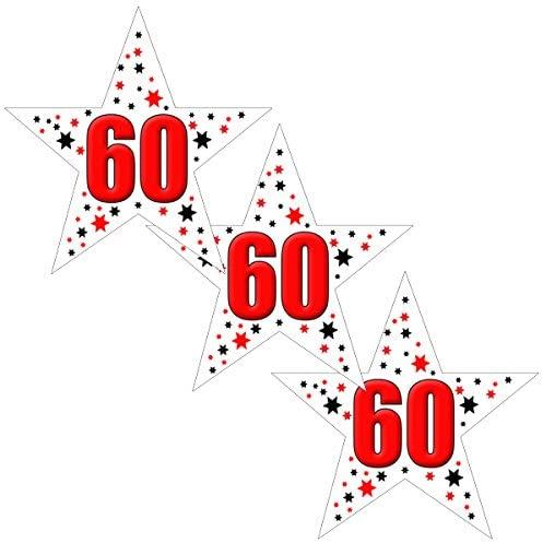 60TH Birthday Star Deco FETTI (24 Piece/PKG)