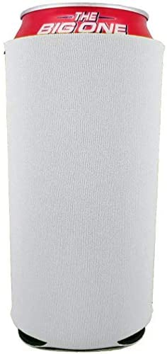 Blank 24 oz. Can Coolie (6, White)