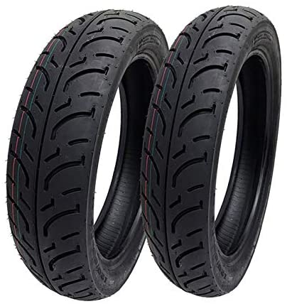 MMG TIRE SET: Front 100/80-16 Rear 120/80-16 - for Mid-Size Scooters Motorcycles with 16 Inch Rims 125cc 150cc