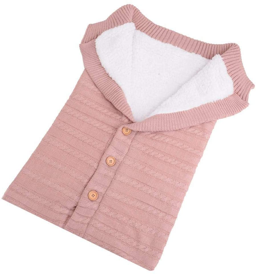 Eselltotal Baby Swaddle Blanket Fleece Stroller Wrap Nap Blanket Plus Velvet,Anti-Kicking Sleeping Nest,Baby Kids Toddler Thick Knit Soft Warm Blanket Swaddle Sleeping Bag