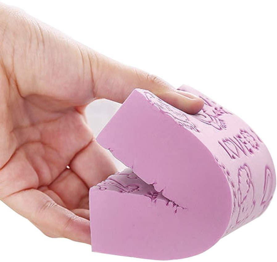 Kiorc Soft Cartoon Baby Bath Sponge Brush Rubbing for Toddler Infant