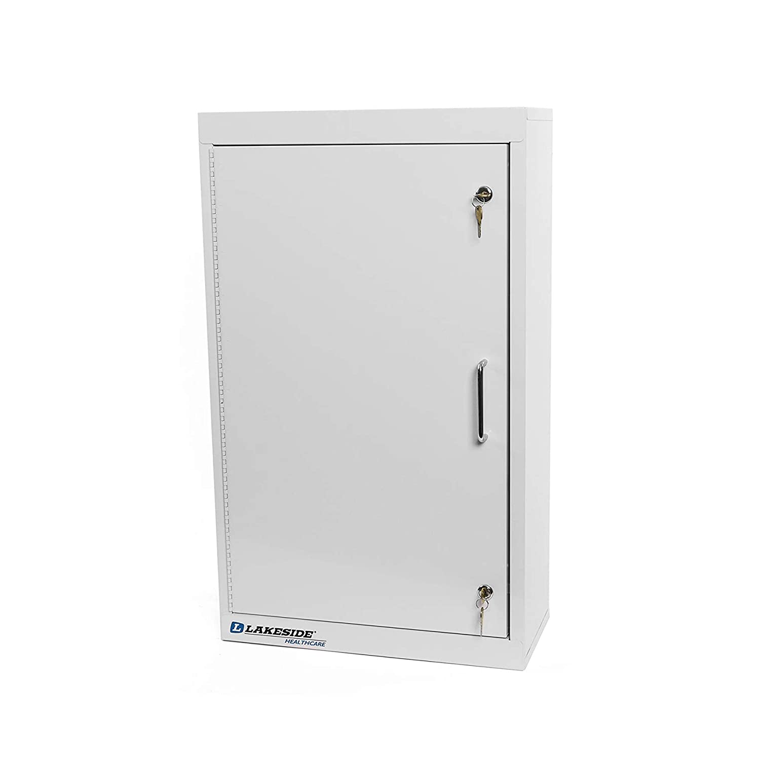 Lakeside LNC-2 Narcotics Cabinet, Steel, Double Lock and 2 Adjustable Shelves (Fully Assembled)