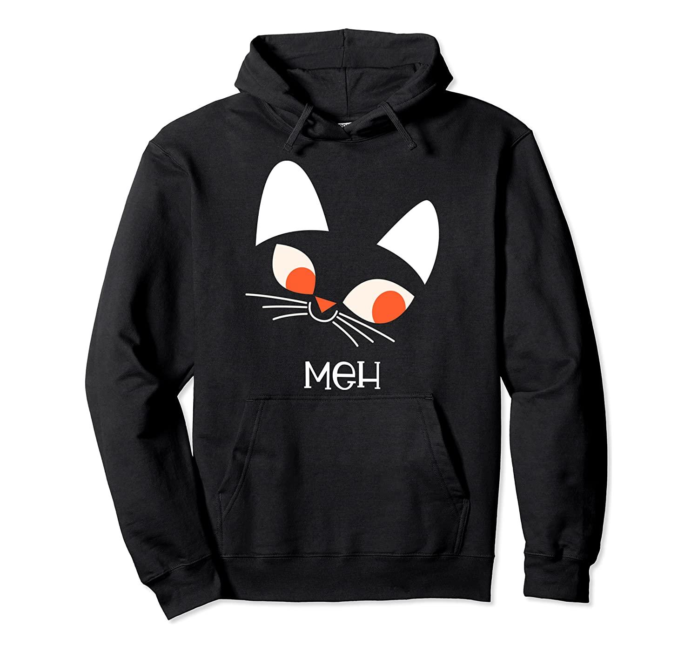 Funny Cat MEH - Cute Halloween Shirt Pullover Hoodie