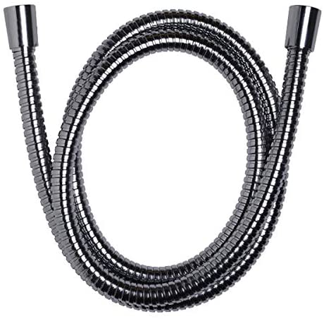 Handheld Shower Hose with Silicone Inner Tube - Non Toxic and Safer for the Environment - Extra Long, Flexible Shower Hose - All Metal Hose and Fittings - Stunning Chrome Finish