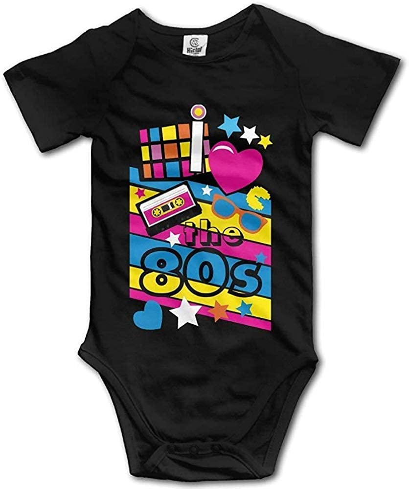 Love The 80s Onesie Bodysuit Short Sleeve for Newborn Infant Baby Girl Clothes