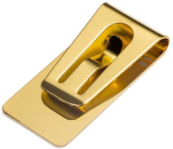 Fasclot Slim Money Wallet Clip Card Stainless Steel Credit Business Card Holder Home & Garden
