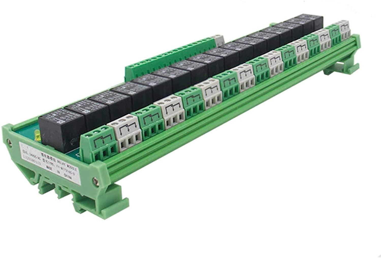 GAEYAELE 16 Groups 1SPDT 1NC1NO Relay Module for AC DC 5V 12V 24V PLC Relay (FY-T7316-12VACDC)