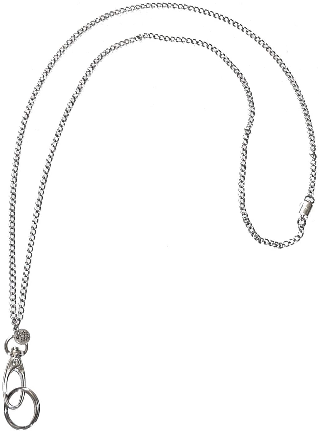 Hidden Hollow Beads, Stainless Steel Chain Fashion Lanyard Necklace, Made in USA, 34