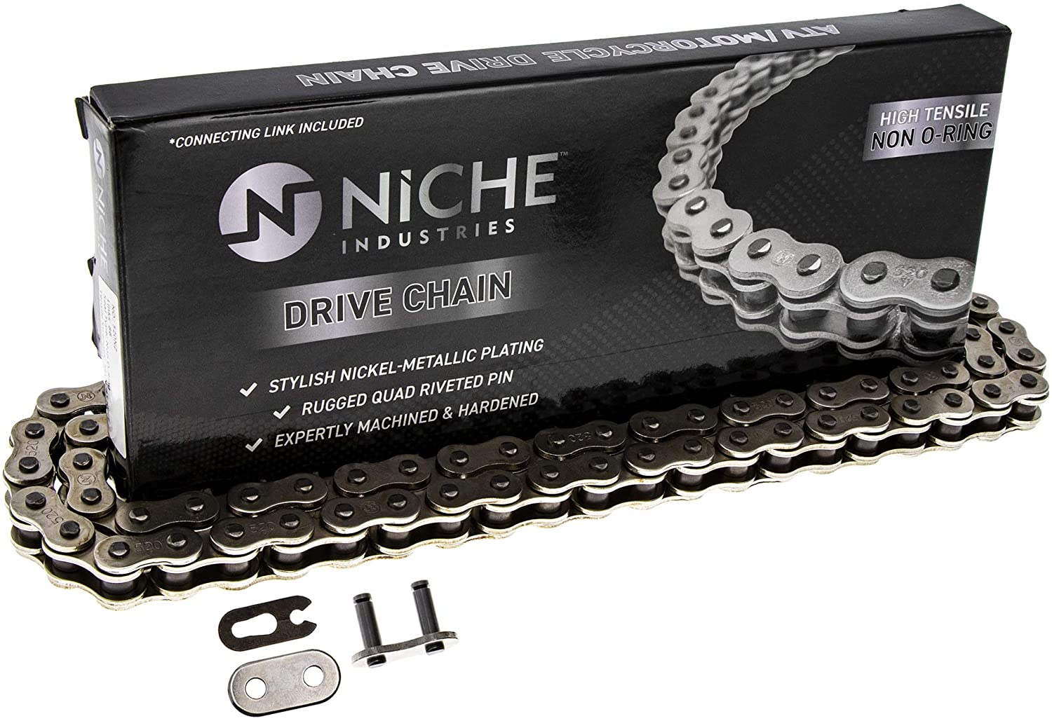 NICHE 520 Drive Chain 86 Links Standard Non O-Ring with Connecting Master Link