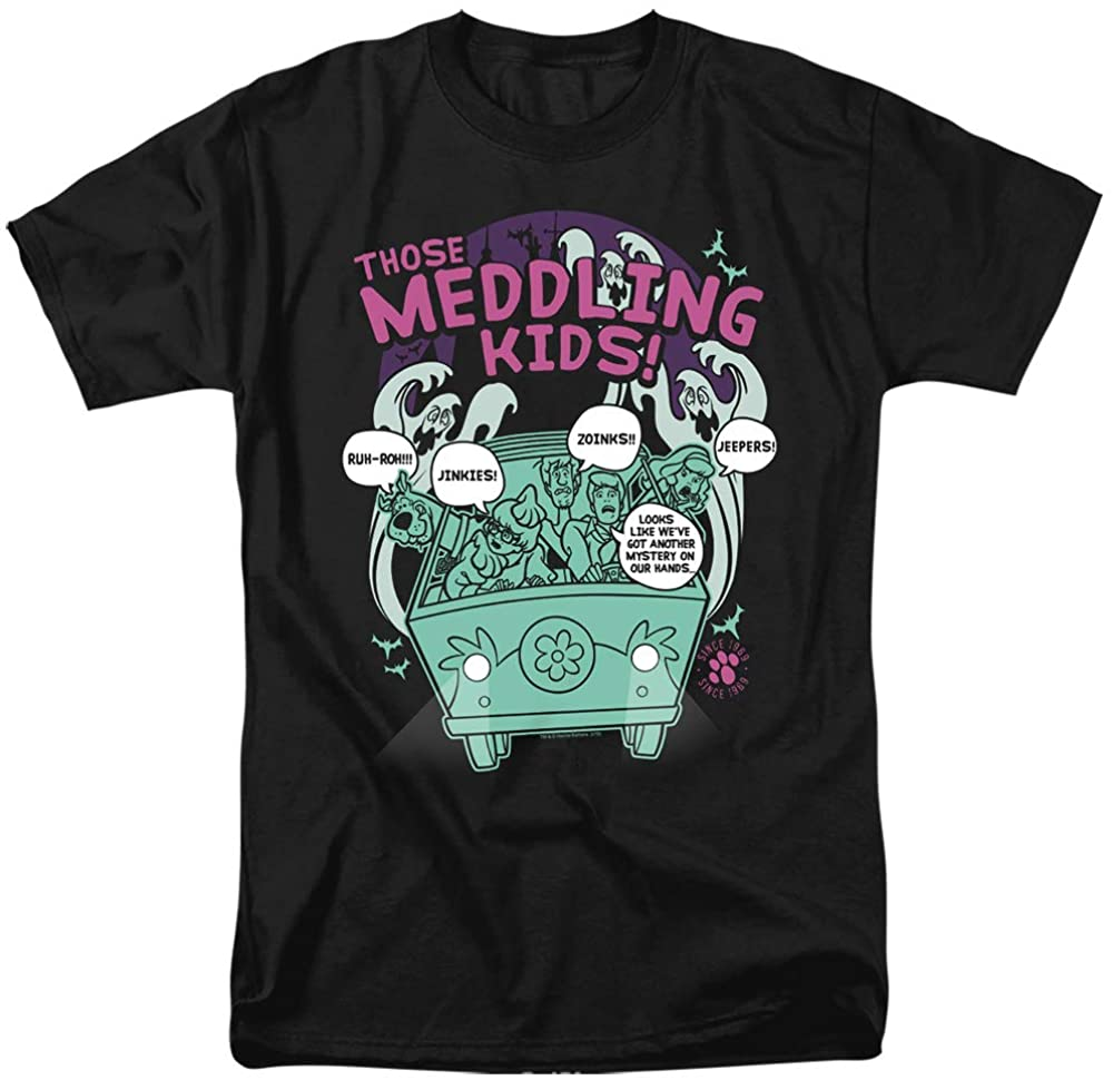 Scooby Doo T-Shirt Those Meddling Kids Black Tee