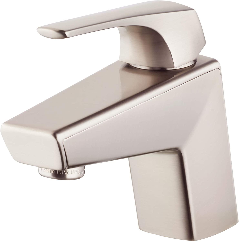 Pfister LG42-LPMK-R Arkitek Single Hole Single-Handle Bathroom Faucet in Brushed Nickel (Certified Refurbished)