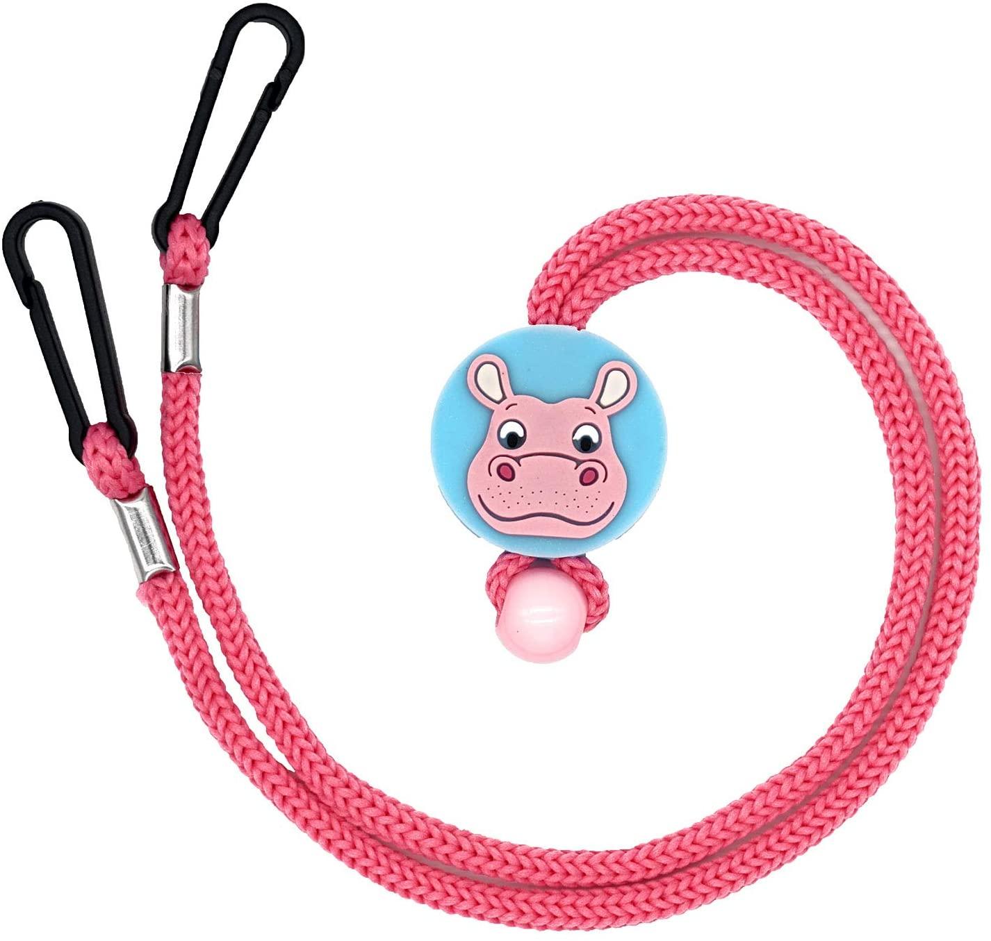 Mask Lanyard for Girls for School Cute Breakaway Mask Straps Clips Mask Holder Hanger Adjustable Buckle String Rope Cord Lock Toggles Stopper Slider Fastener Extender for Kids Face Mask (Pink)