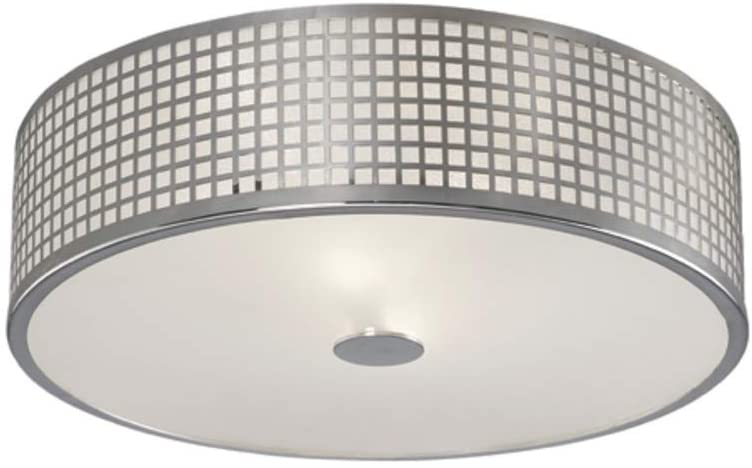 Canarm Annie 2 Lt Flush Mount with Glass Diffuser -Easy Connect Included