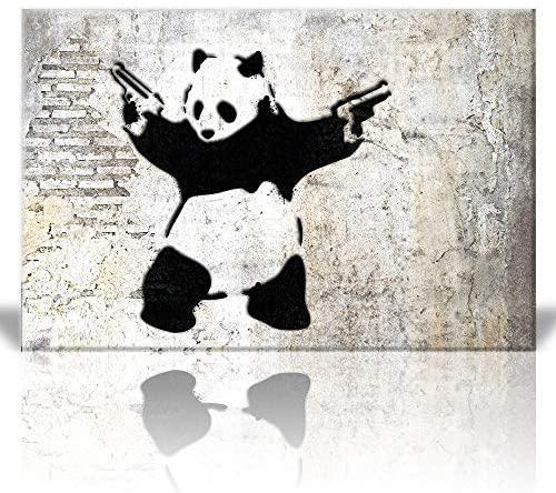 wall26 - Stick'Em Up Banksy Graffiti Artwork - Canvas Art Wall Art - 16