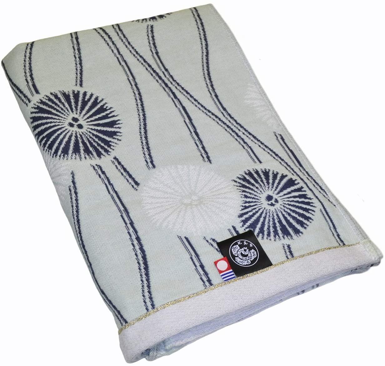 Imabari Towel Kioi Ise-Katagami Collection Chrysanthemum Design Bath Towel 1 pcs