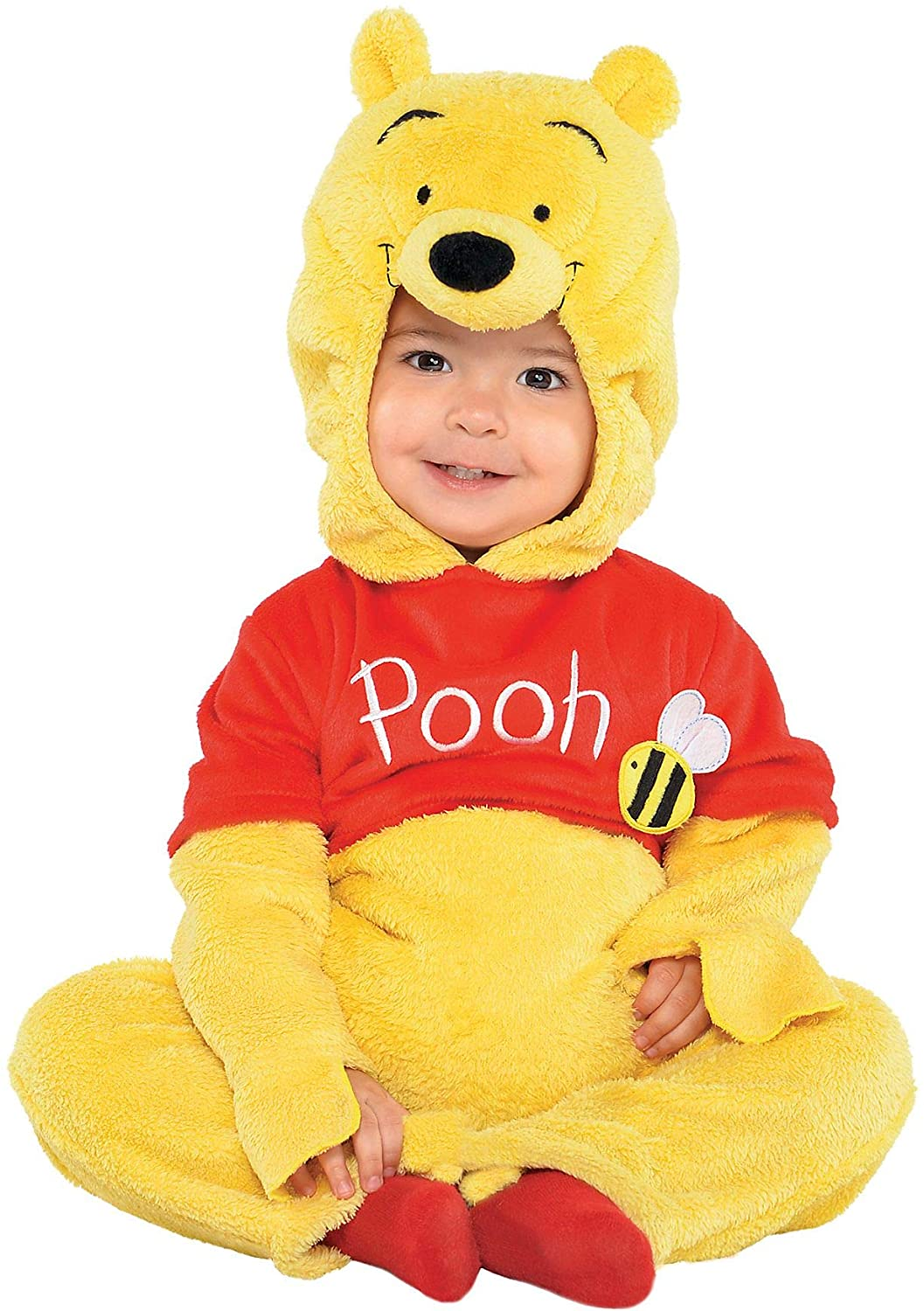 Suit Yourself Winnie the Pooh Costume for Babies, Size 12-24 Months, Includes Soft Jumpsuit and Pooh Face Hood