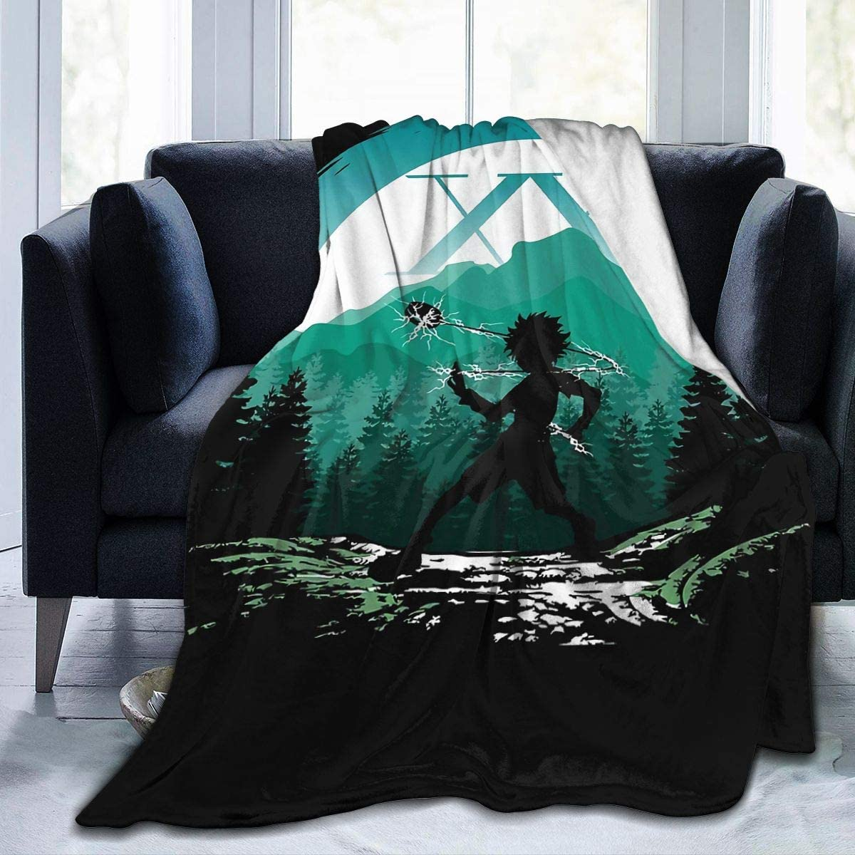 EVA GIBBONS Flannel Blanket Hunter-X-Hunter-Kite Covers Throw Blanket for Bed Sofa Living Room Summer Small 50x40 in for Kids