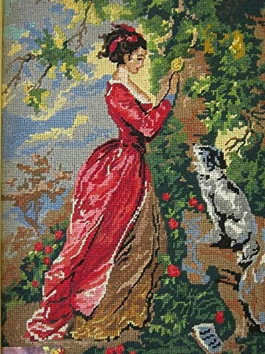 Printed Canvas for Cross Stitch Tapestry Gobelin Embroidery Diamant Gobelin-L (Lady S F364)
