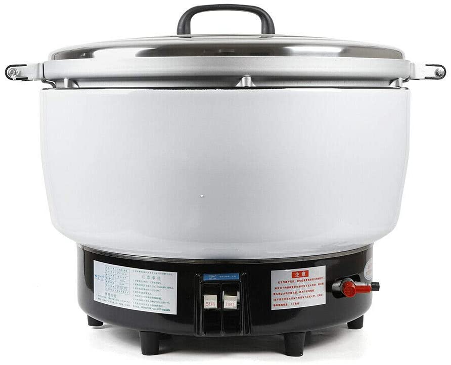 Ethedeal Rice Cooker -23L Capacity Natural Gas Rice Cooker Pot Commercial Rice Cooker Flame Steamer Soup Pot For Restaurant Large (23L)