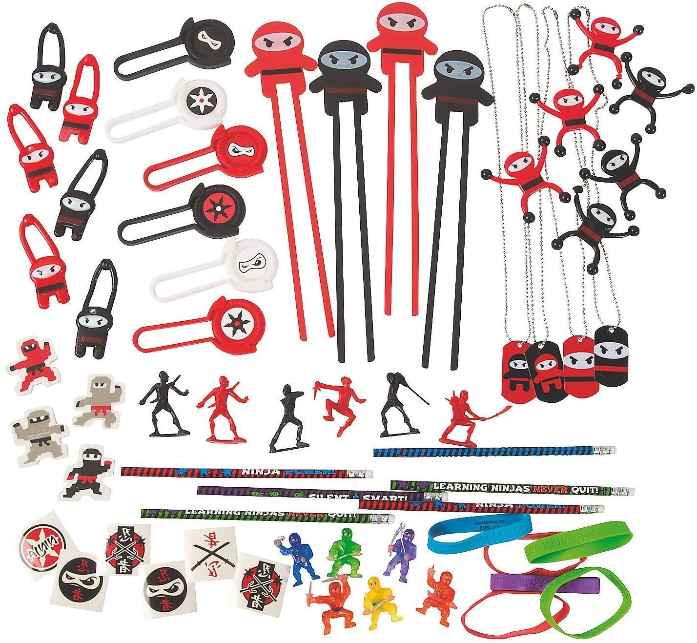 Fun Express - Ninja Assortment (50pc) - Toys - Assortments - 50Pc Assortments - 50 Pieces
