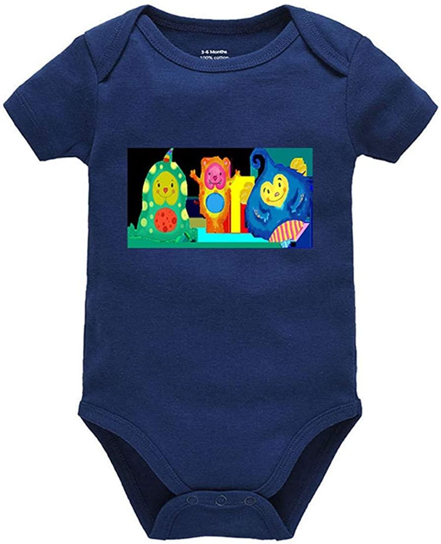 Migsrater Boy Girl Summer Clothes Newborn Onesies Short/Long Sleeve Unisex Baby Bodysuit Navy