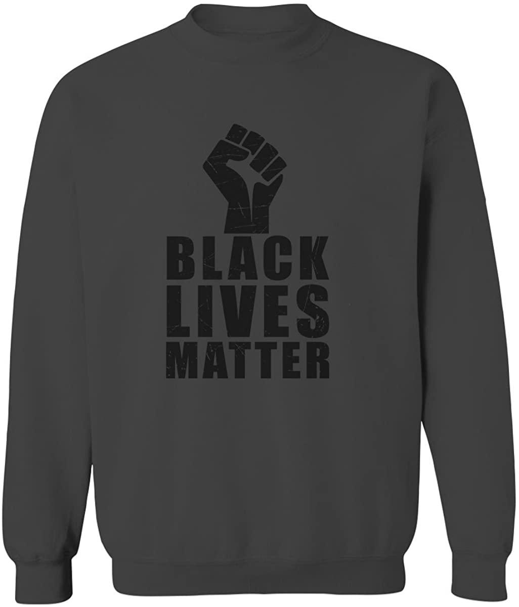 Black Lives Matter Liberal Progressive Protest Nevertheless Resist Men's Crewneck Sweatshirt
