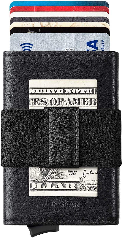 Minimalist Pop Up Wallet, Slim Credit Card Holder For Men With Money Band Hold 5 Cards