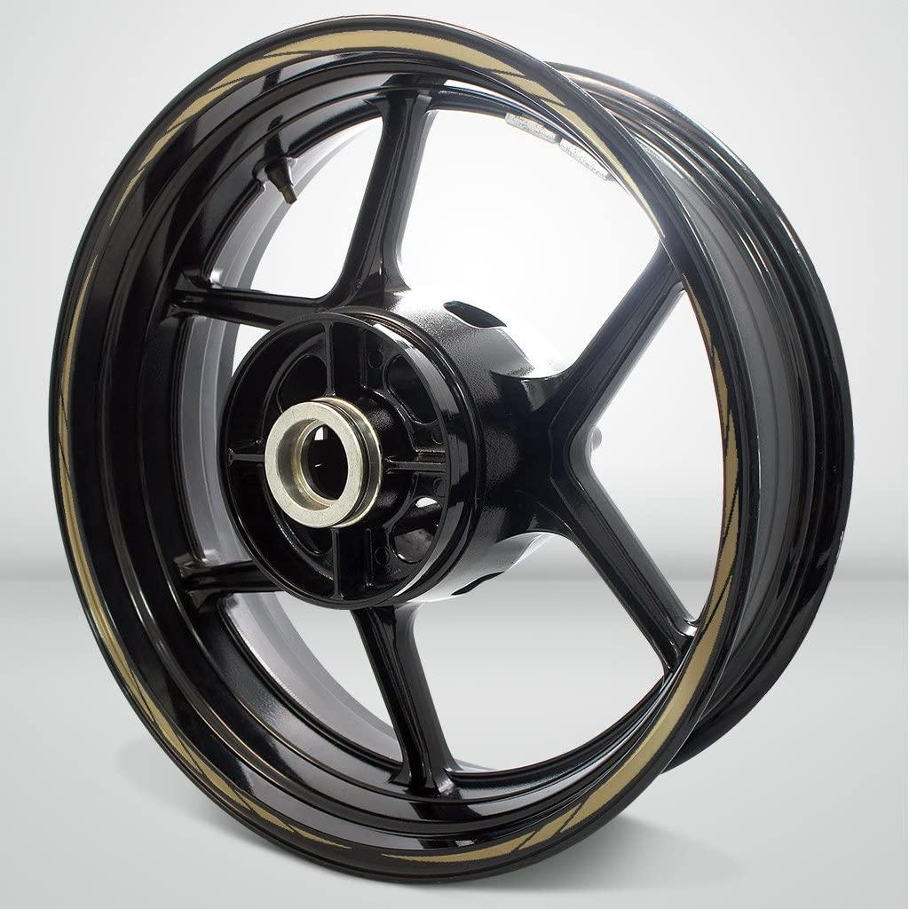 Matte Gold Spiral Outer Rim Liner Stripe for Suzuki GSXR 750