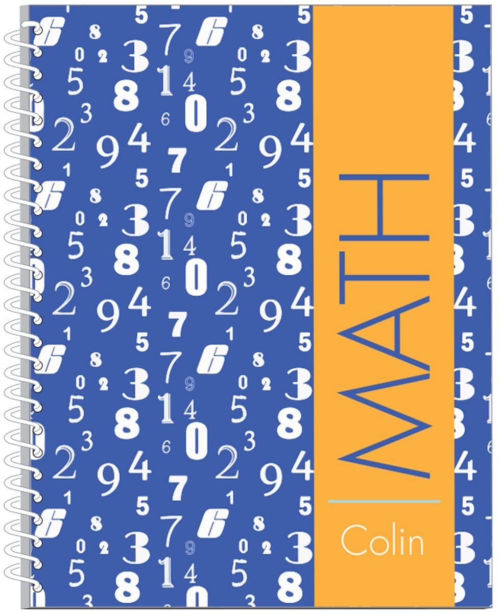 Falling Digits Math Subject Notebook   75 Page Subject Journal For School   Personalized Kids Journal   School Supplies   School Gear   Customized Notebook