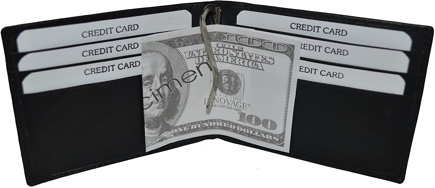 LeatherBoss Money Clip Wallet With 6 Credit Card Slots