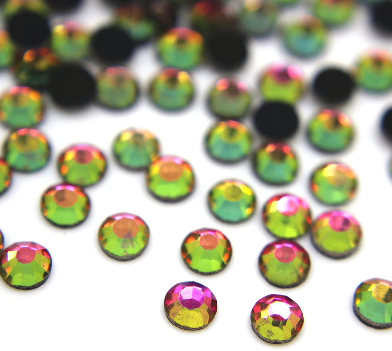 Zbella Crystal Hot Fix Rhinestones 10 Gross (1440 Stones/pkg) Hotfix Rhinestones (ss16, Rainbow)