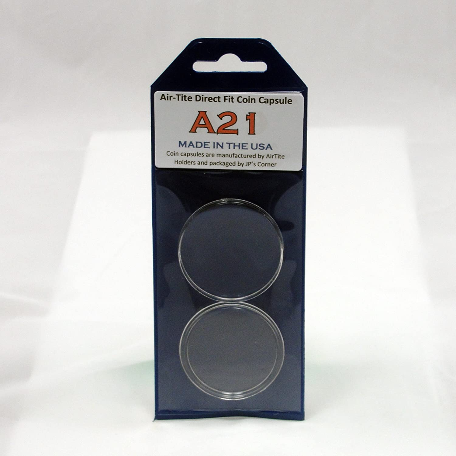 (5) Air-Tite Direct Fit Coin Capsule A21 for U.S. Nickels in JP's Retail Packaging
