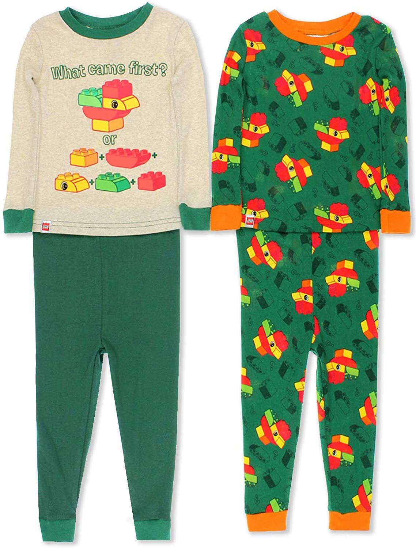 LEGO Duplo Chicken Toddler Boys 2fer 4 Piece Long Sleeve Cotton Pajamas Set