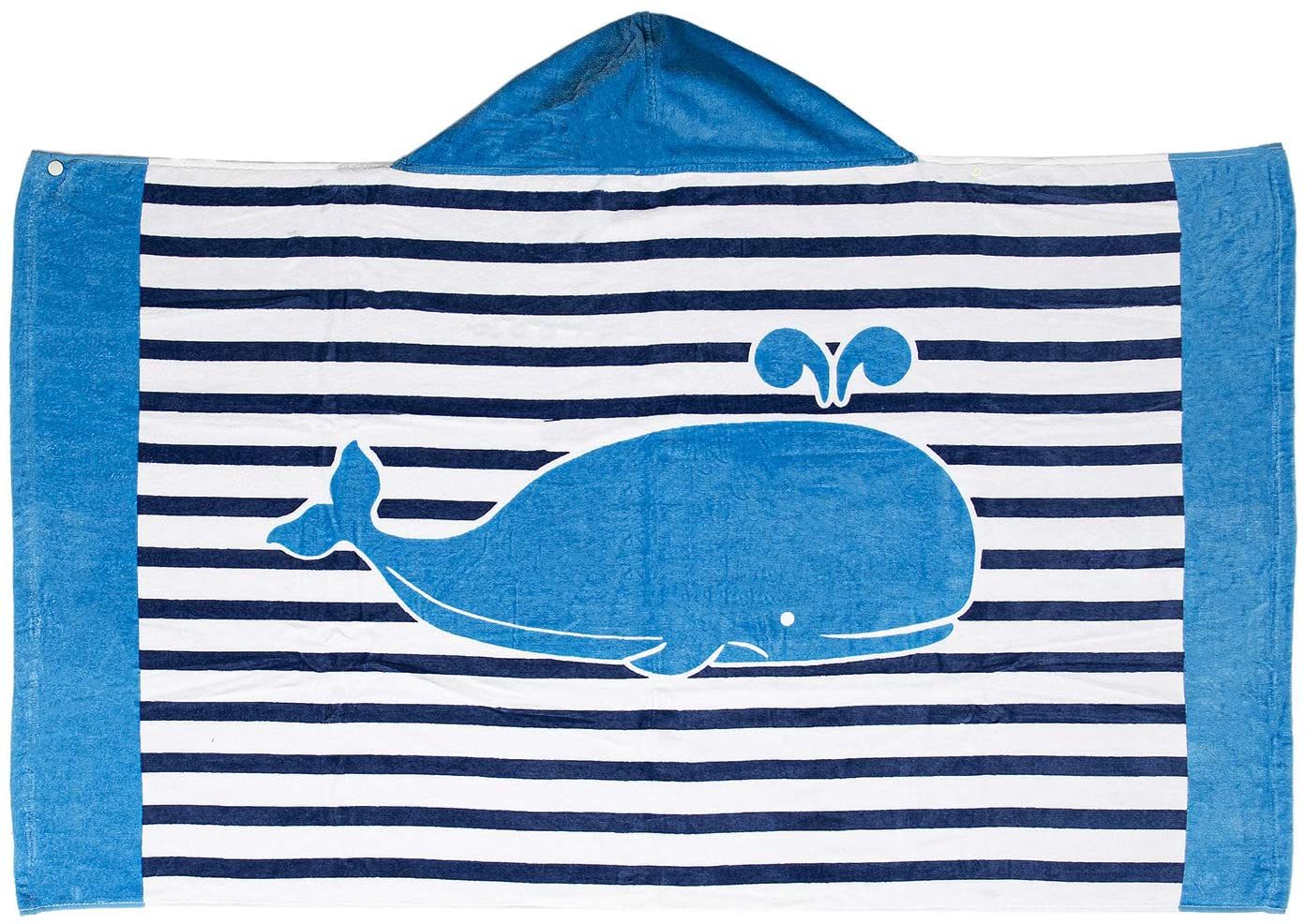 VNICGFOMGT Kid Hooded Beach Towel Pure Cotton Bathrobe for Children Swimming Surfing Spa Soft Cartoon Poncho Blanket, Whale 30