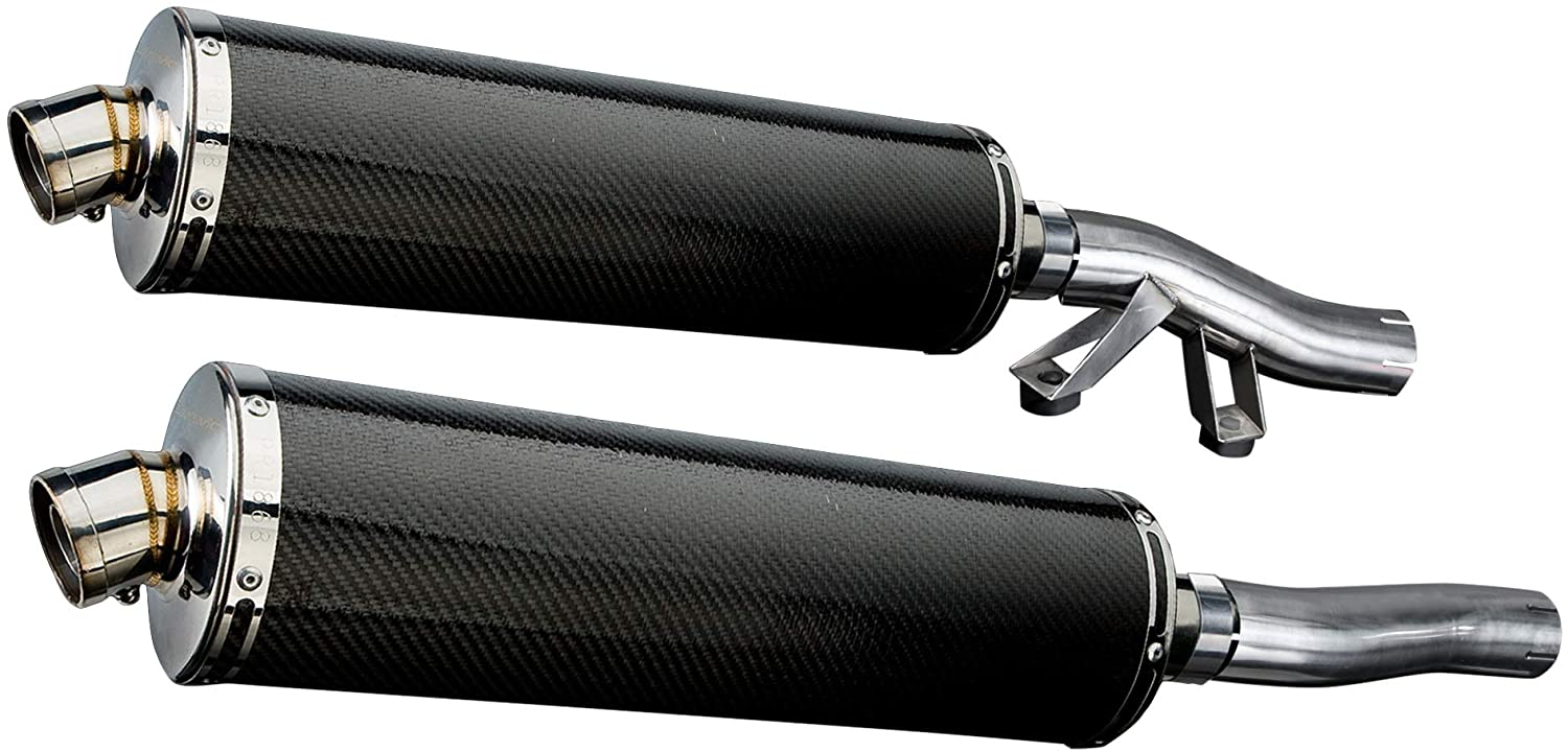 Delkevic Aftermarket Slip On compatible with Kawasaki Concours 1000 GTR1000 18