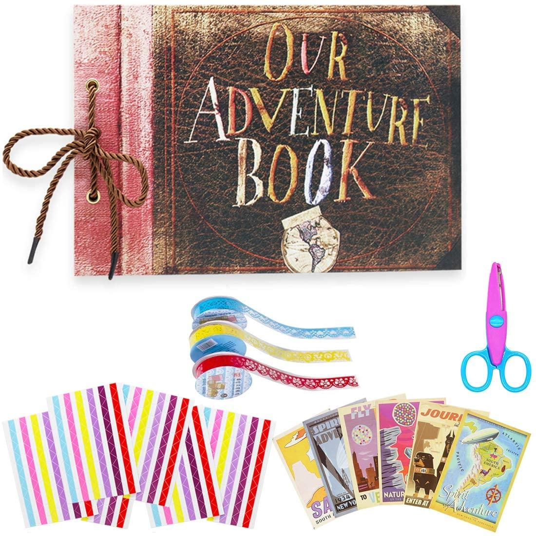 Big Trend Photo Album Scrapbook, Our Adventure Book, DIY Handmade Photo Album Scrapbook, Travel Scrapbook for Anniversary, Wedding, Trip, Baby Shower, etc. (Travel Scrapbook)