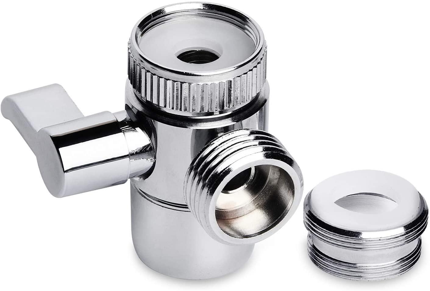 Supkiir Shower Diverter Valve, Sink Valve Diverter Faucet Splitter Hose Adapter for Kitchen Bathroom Sink Faucet Replacement Part