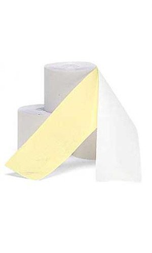 2 Ply Cash Register Tape in White and Canary 2.25 W - Case of 100'L